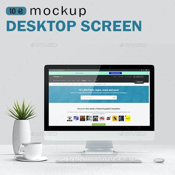 iMac / Desktop Screen Mockups