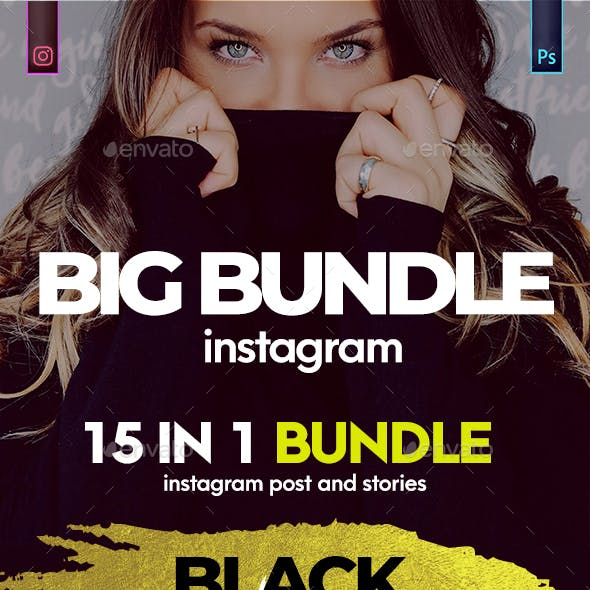 Instagram Post and Stories Banner Bundle