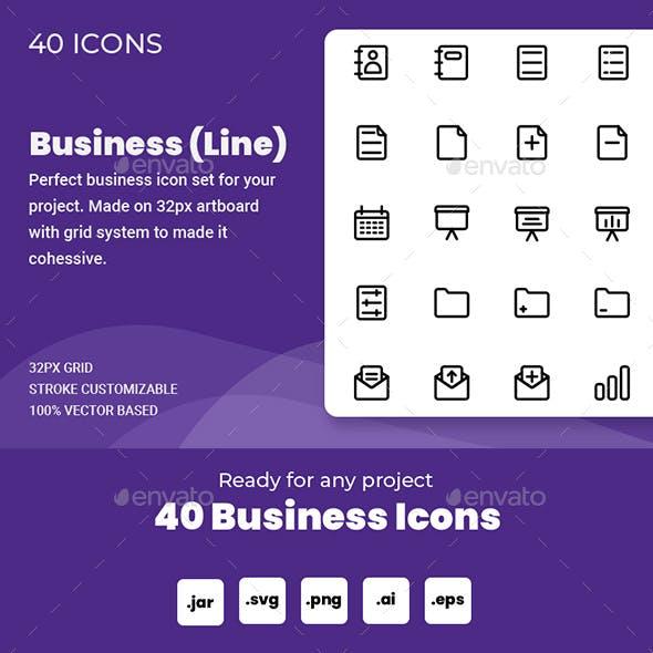 Business Icon Set (Line)