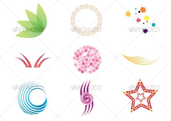 Set of vector design elements - Flourishes / Swirls Decorative
