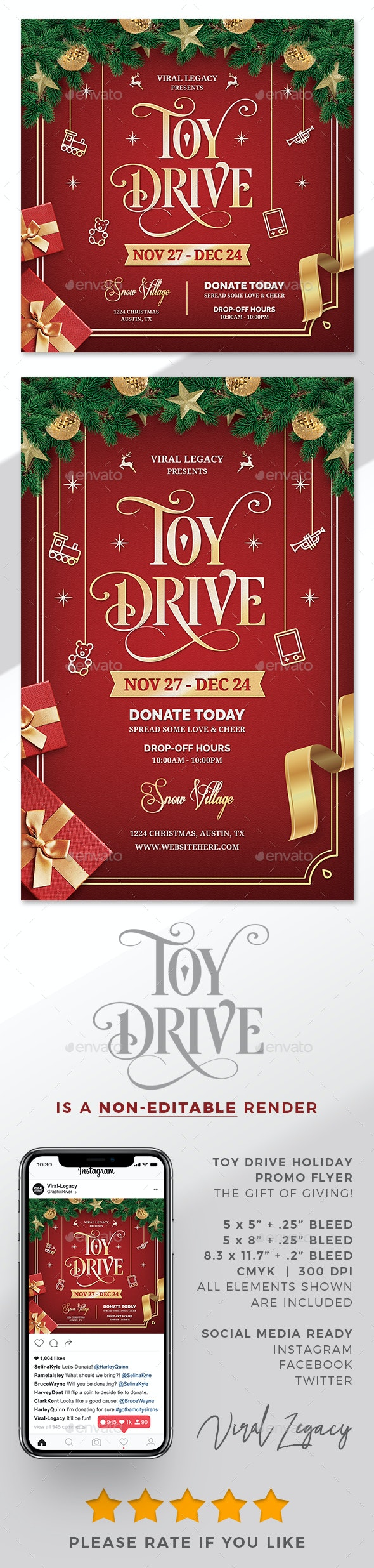 Toy Drive Flyer / Poster V08 - Flyers Print Templates