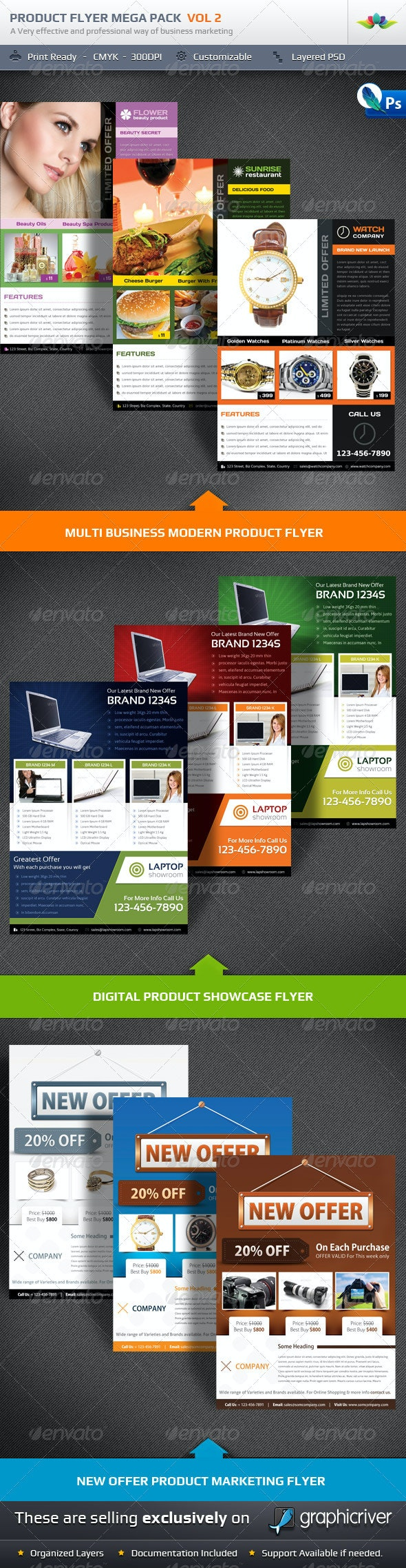 Product Flyer Mega Pack Vol2 - Corporate Flyers