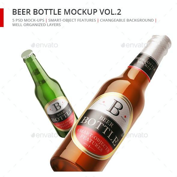 Beer Bottle Mock-up Set 2