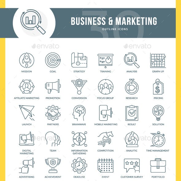 Marketing Outline Icons