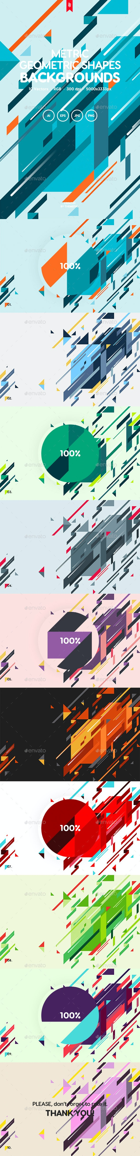 Metric - Geometric Shapes Backgrounds - Abstract Backgrounds