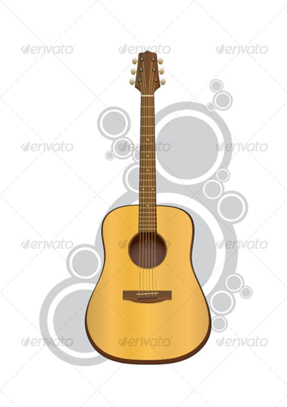 Acoustic Guitar - Man-made Objects Objects