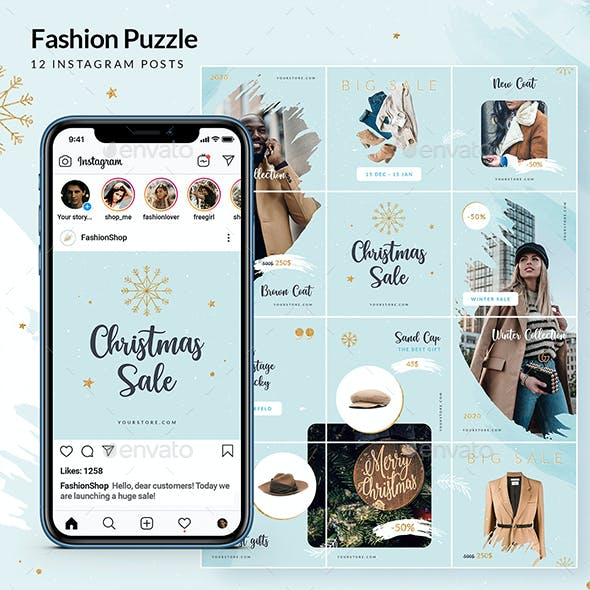 Christmas Fashion Sale - Instagram Puzzle