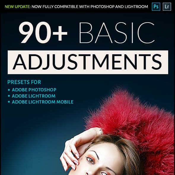 90 Basic Adjustment - Professional Adobe Photoshop and Lightroom Presets