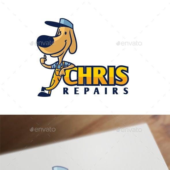 Cartoon Retro Vintage 50's Dog Mascot Logo