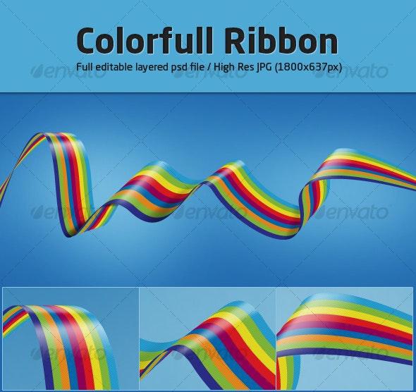 Colorfull Ribbon - Abstract Illustrations