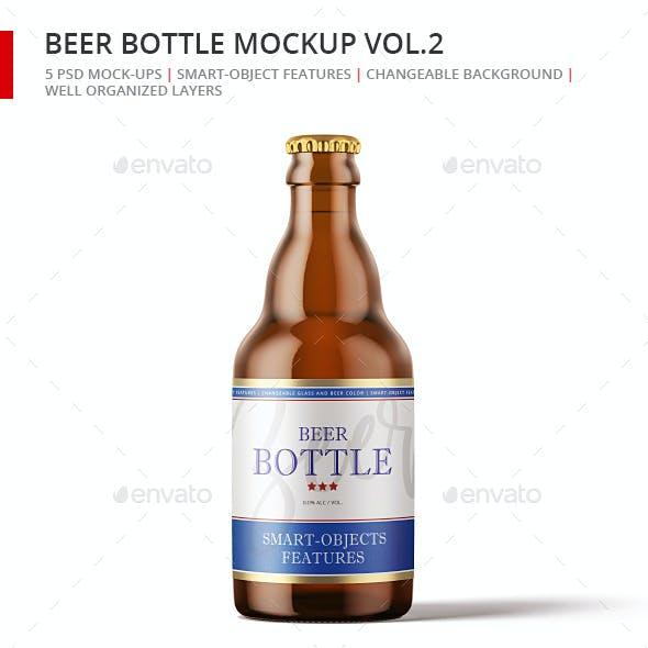 Steinie Beer Bottle Mock-up