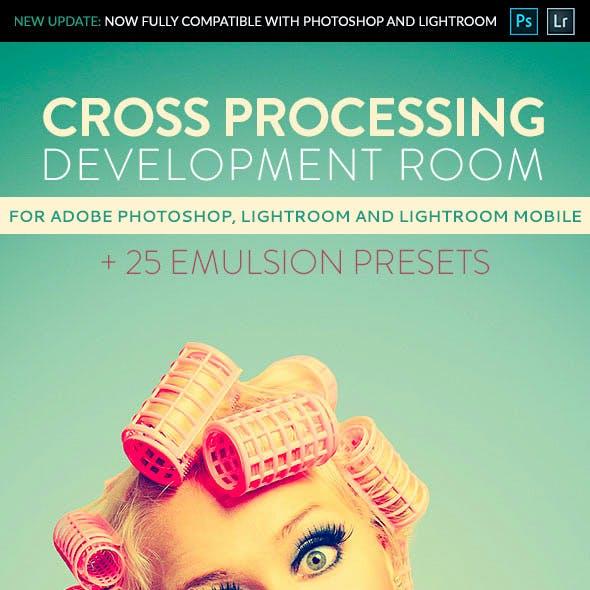 Cross Processing Development Room - Professional Adobe Photoshop and Lightroom Presets
