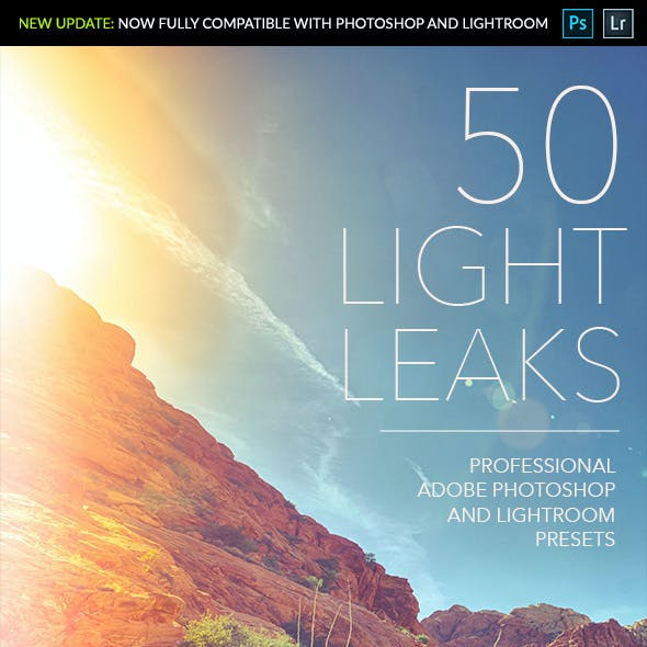 50 Light Leaks - Professional Adobe Photoshop and Lightroom Presets
