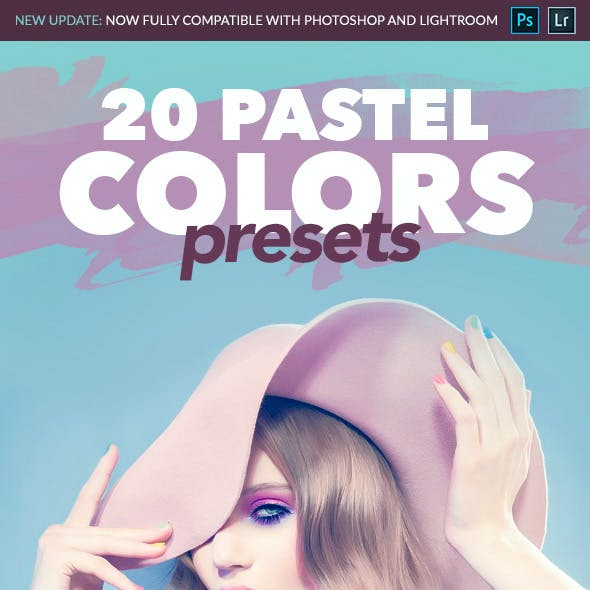 20 Pastel Colors - Professional Adobe Photoshop and Lightroom Presets