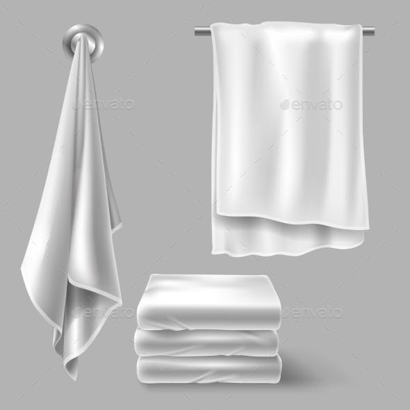 Mockup with White Cloth Towels