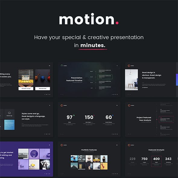 Motion - Creative & Multipurpose Template (Keynote)