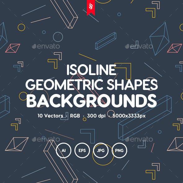 Isoline - Linear Isometric Geometric Shapes Background