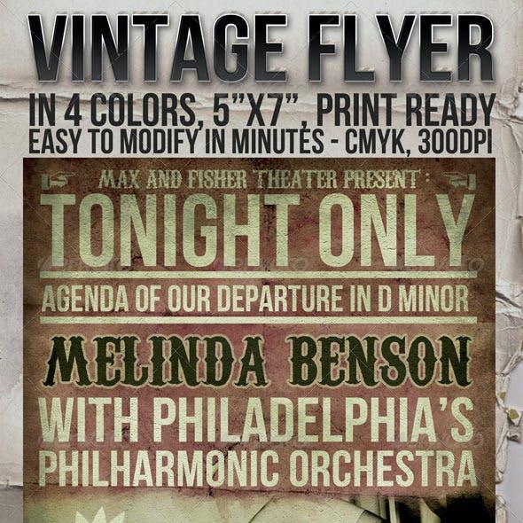 Vintage Flyer in 4 Colors