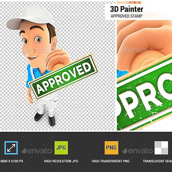 3D Painter Approved Stamp