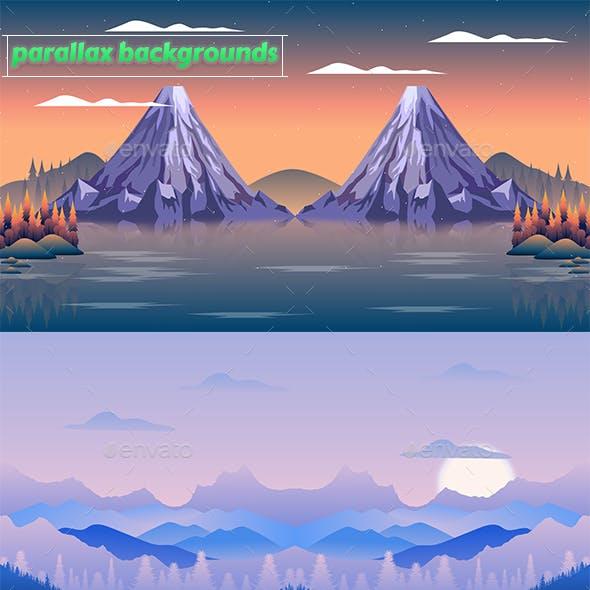 2D Parallax Backgrounds