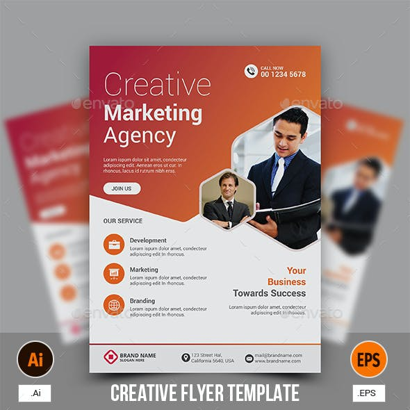 Creative Flyer Template Graphics Designs Templates