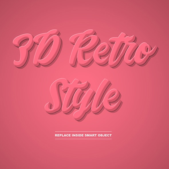 3d Retro Text and Object Layer Style - Text Effects Styles