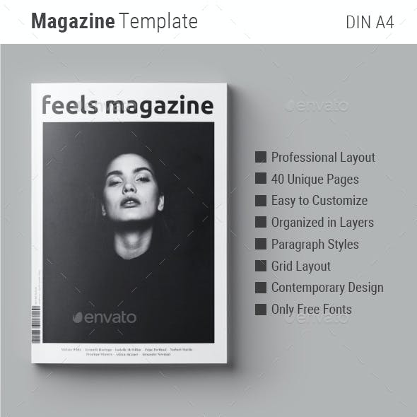 Magazine Template | Feels