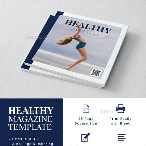 Square Healthy Magazine Template