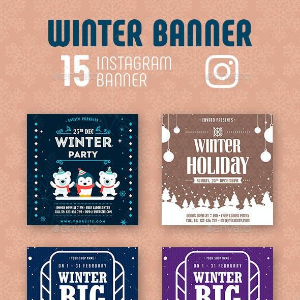Winter Instagram Banner