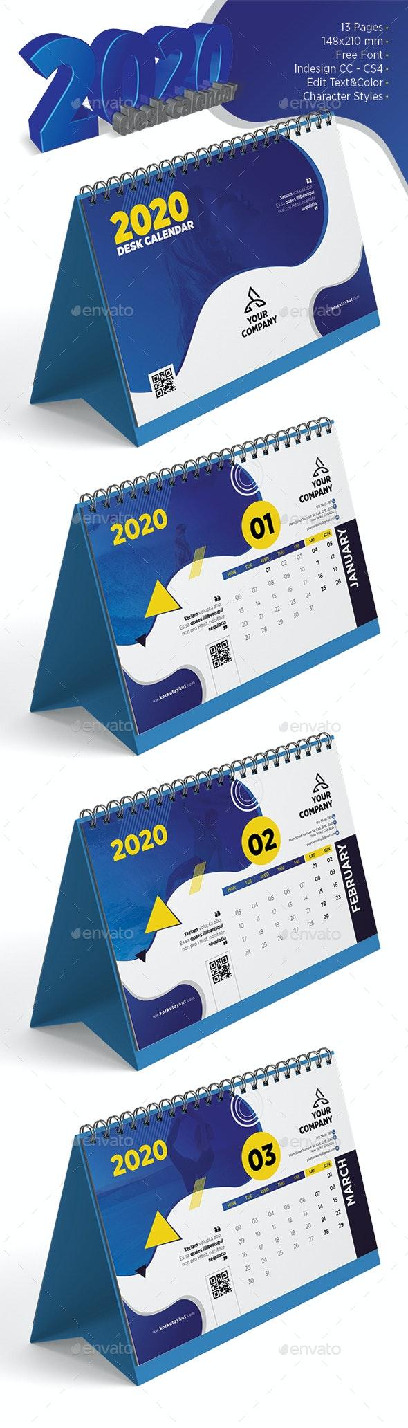 2020 Desk Calendar - Calendars Stationery