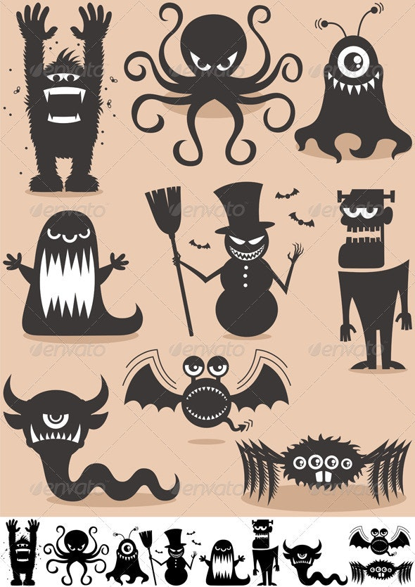 Silhouette Monsters - Monsters Characters