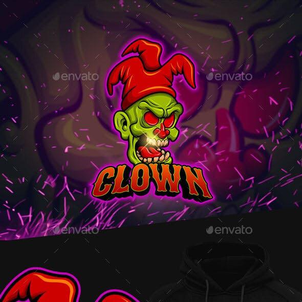Clown Esports Mascot Logo