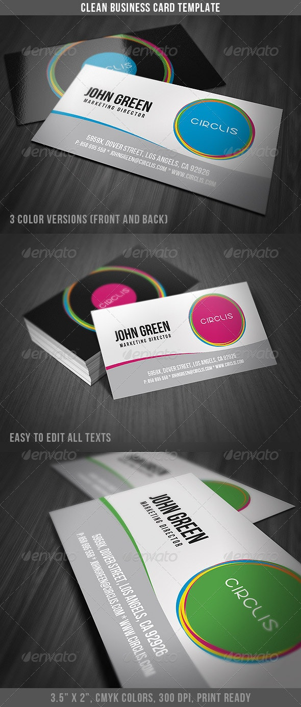 Clean Business Card Template - Creative Business Cards
