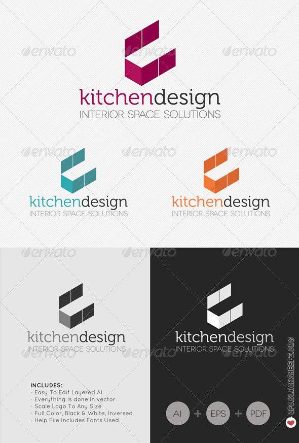 Kitchen Design Logo - Vector Abstract
