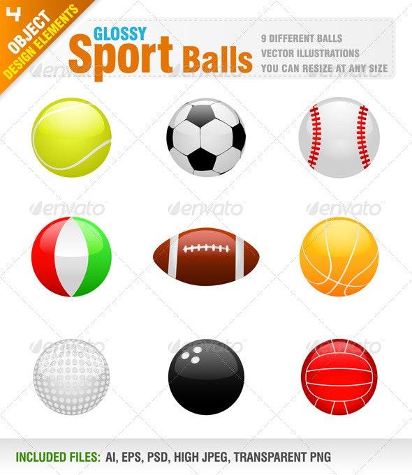 9 Sport balls - Sports/Activity Conceptual