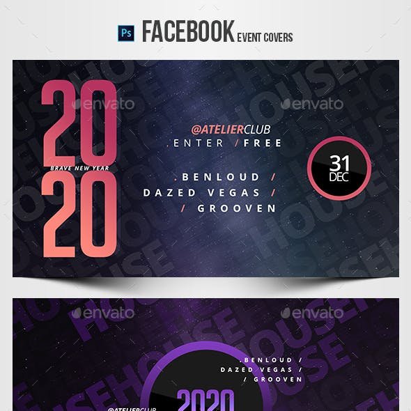 Electronic Music Party 22 - Facebook Event Cover Templates