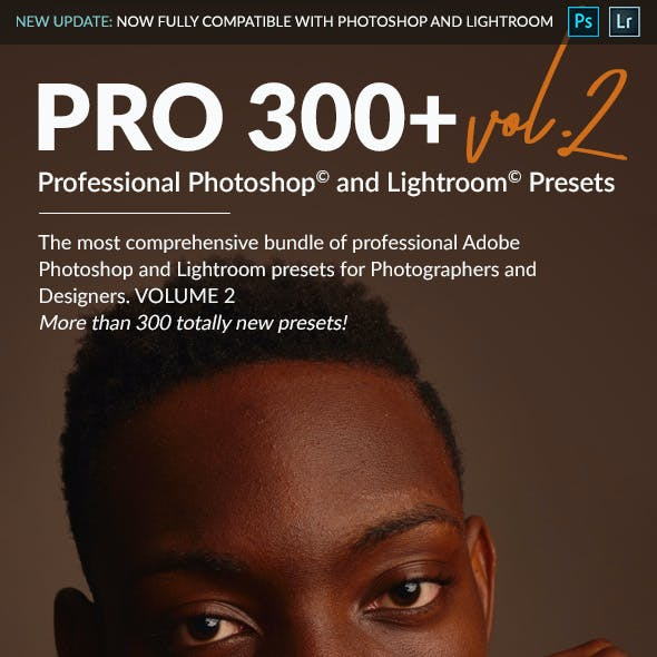 PRO 300 II - Professional Adobe Photoshop and Lightroom Presets
