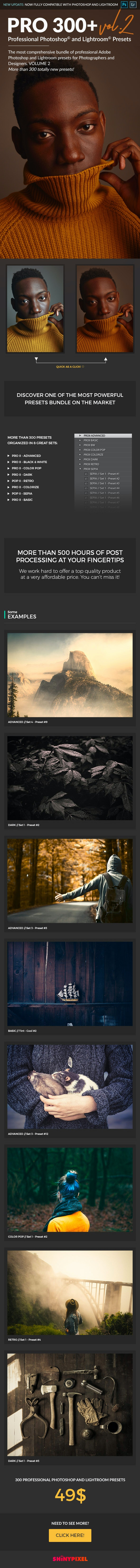 PRO 300 II - Professional Adobe Photoshop and Lightroom Presets - Lightroom Presets Add-ons
