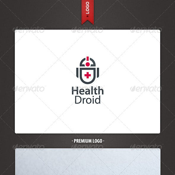 Health Droid Logo Template