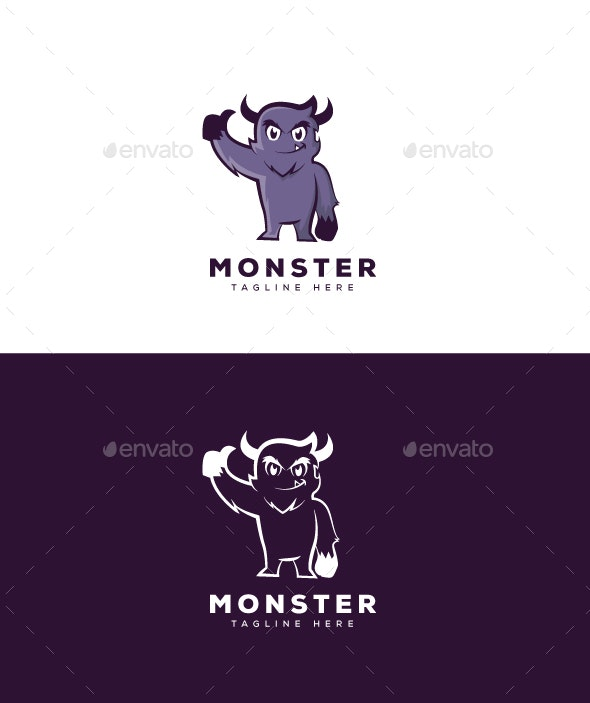 Monster Logo - Vector Abstract
