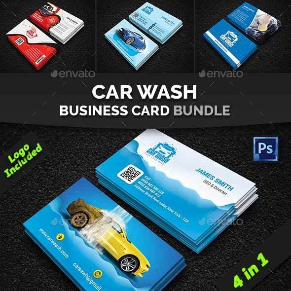 Car Wash Business Card Bundle
