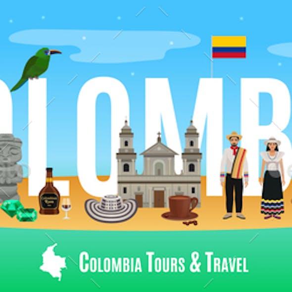 Colombia Tourism Concept