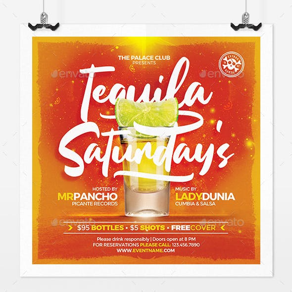 Tequila Saturday Flyer Template