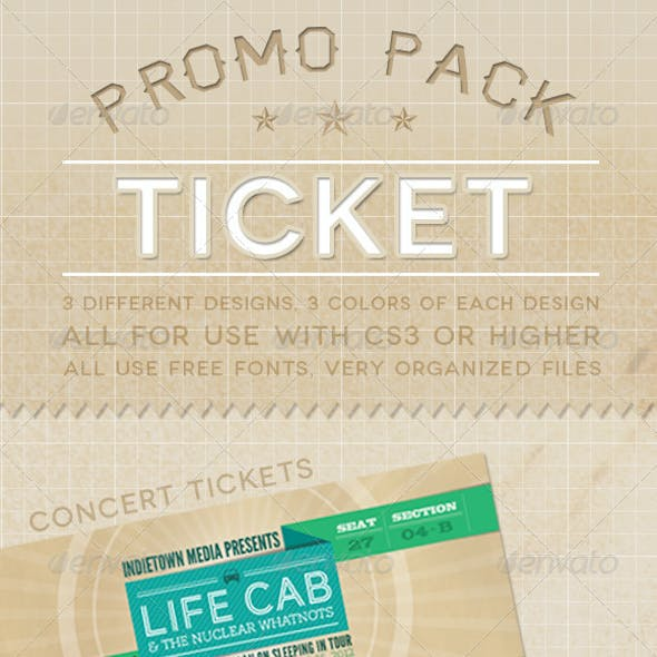 Ticket Promo Pack
