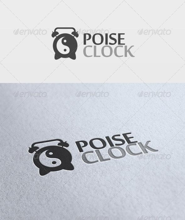 Poise Clock Logo - Objects Logo Templates