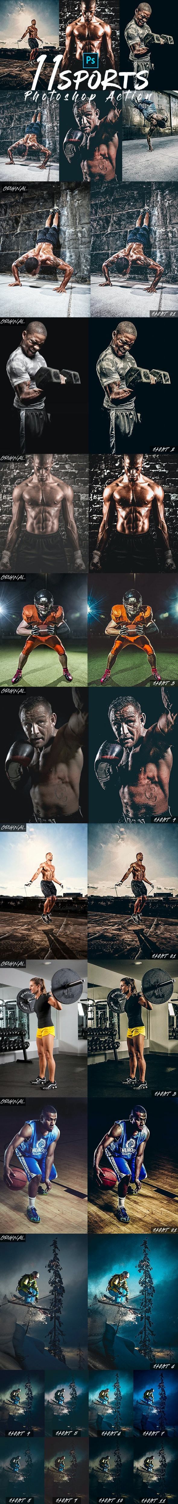 HDR Sports Photoshop Actions - Photo Effects Actions