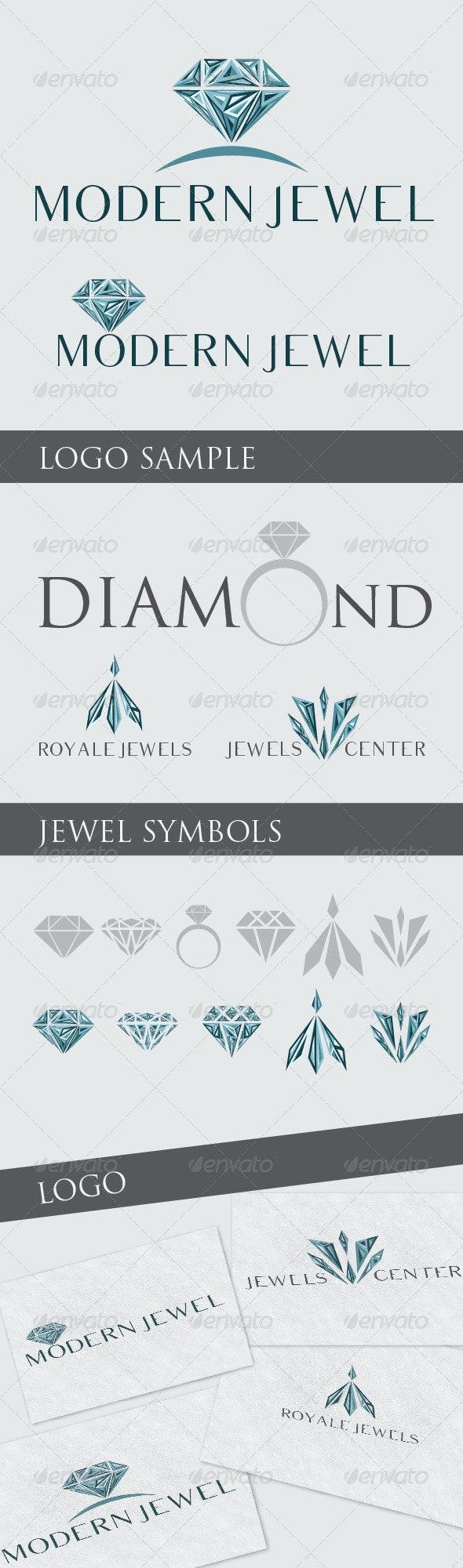Modern Logo Jewel - Objects Logo Templates