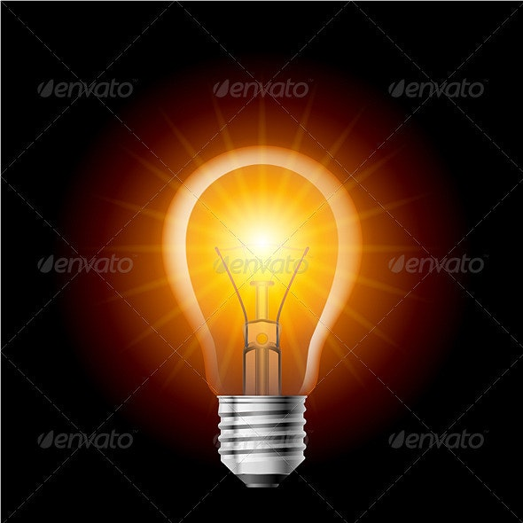 Light bulb - Man-made Objects Objects
