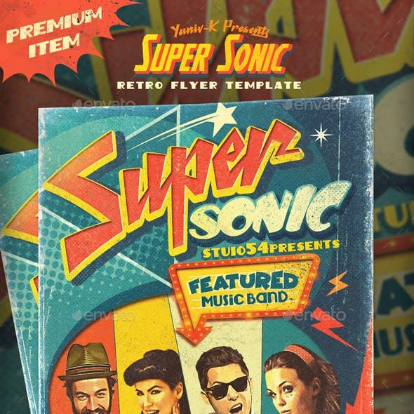 Super Sonic Retro Poster