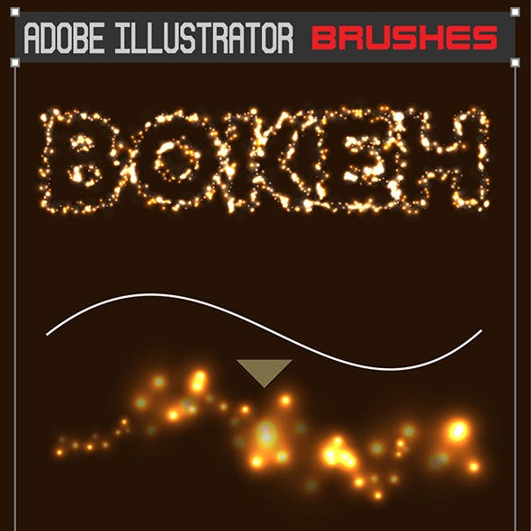 Vector Bokeh Brushes